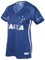 Camisa Feminina Jogo 3 Cruzeiro Umbro 2017 Azul