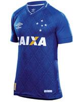 Camisa Juvenil Jogo 1 Cruzeiro Umbro 2017 Azul