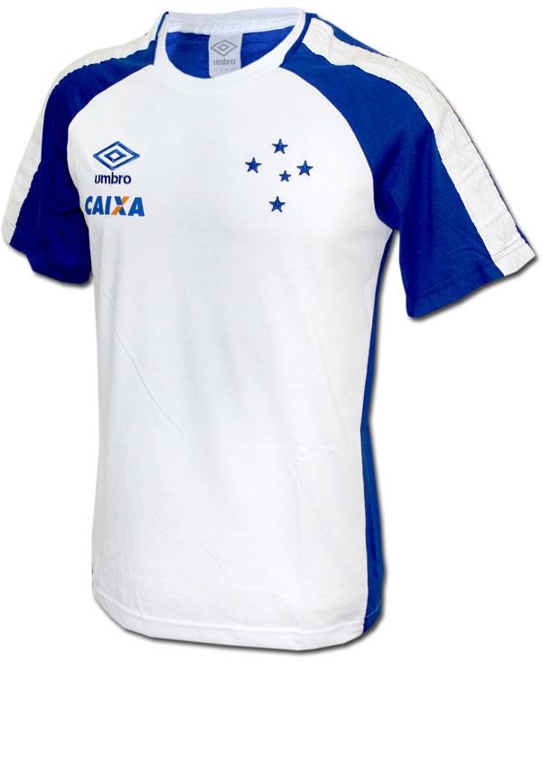 Camisa Concentração Cruzeiro Umbro 2017 Branca e6dc8f303cfaa