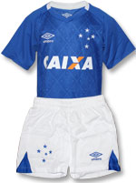 Kit Infantil Jogo 1 Cruzeiro 2017 Umbro Azul