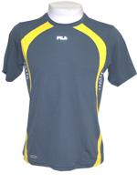 Camiseta Fila Masc. Le Briou -RM94 -Chumbo/Amarelo