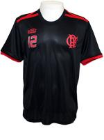 Camisa T-Shirt Torcedor 12 - Flamengo - PRT/VRM