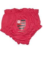 Calcinha para bebê Flamengo - Vermelho/Preto