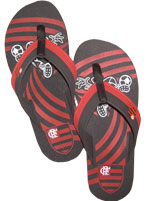 Chinelo Adulto Flamengo Azal�ia
