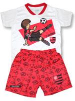 Conj Estilo Artilheiro Bebê Flamengo Torcida Baby