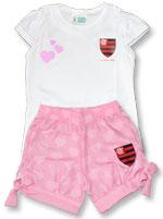 Conjunto Estilo Menina Flamengo Torcida Baby