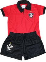 Conjunto Polo Infantil Flamengo Torcida Baby