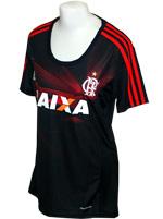 Camisa Feminina 3 Flamengo Adidas 2013 Preta