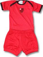 Kit 2 Peças Body Curto Flamengo Torcida Baby