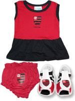 Conjunto 3 Peças Feminino Flamengo Torcida Baby