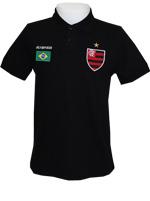 Camisa Polo Brasil Flamengo OLK Preta