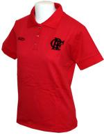 Polo B�sica Flamengo - Feminina - Vermelha