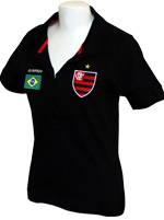 Polo Feminina Flamengo Brasil Olympikus Preta