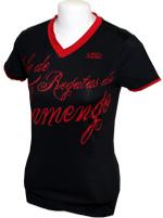 T-shirt Sou Flamengo - Feminina - Preto e Vermelho