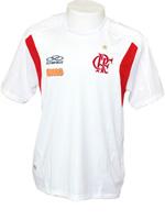 T-Shirt Viagem Flamengo Olympikus 2011 Branca