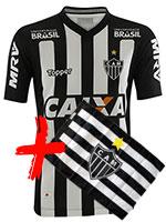 Kit Camisa Atlético MG 2018 Topper S/N + Bandeira