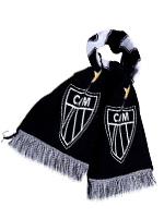 Cachecol Atlético Mineiro Preto Letter