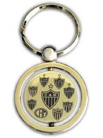 Chaveiro Banhado a Ouro - Atlético Mineiro Escudos