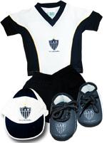 Conj. 4 Peças com Short Torcida Baby Atlético MG
