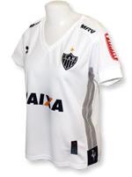 Camisa Jogo Atlético MG 2016 Fem Dryworld Branca
