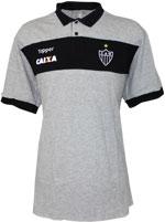 Camisa Polo Viagem Atlético MG 2017 Topper Cinza