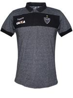 Camisa Polo Viagem Atlético MG 2017 Topper Preta
