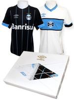 Kit Grêmio Camisa Jogo 4 2015 + Retrô 1956