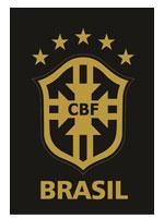 Imã Escudo CBF Fundo Preto