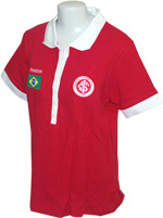 Camisa Polo Feminina Brasil Internacional Reebok