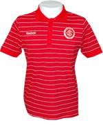 Camisa Polo Stripes Internacional Vermelha