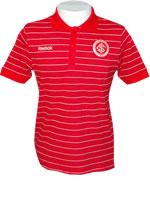 Camisa Polo Stripes Internacional Vermelha