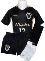 Kit Infantil Malwee Futsal Falcão - Preto/Dourado