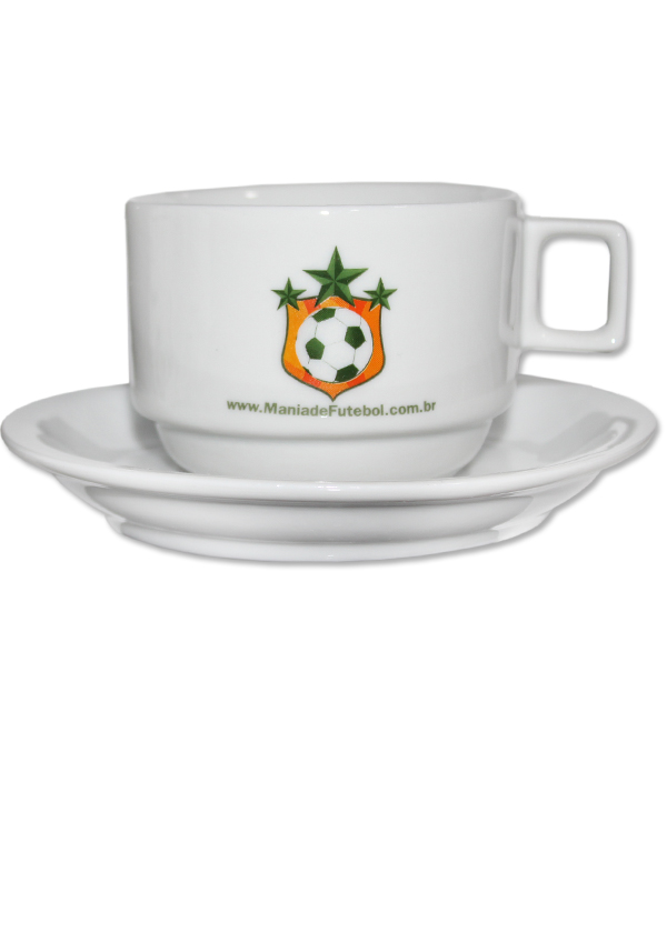 Conjunto de Chá Porcelana Mania de Futebol