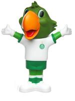 Boneco Mascote Palmeiras Uniforme Jogo 02