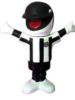 Boneco Mascote Santos - Uniforme Listrado