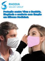 Kit Máscara Proteção Virus e Bactérias Rhodia