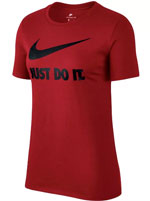 Camisa Nike NSW Crew Just Do It Feminina Vermelha