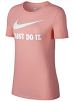 Camisa Nike Crew Just do It Rosa Feminina