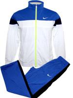 Conjunto Agasalho Nike Warm Up Azul e Branco