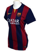 Camisa Feminina Barcelona Nike 2015 Listrada