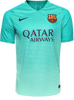 Camisa Jogo 3 Barcelona Nike 2016/17 Verde Água
