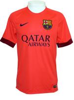 Camisa Jogo 2 Barcelona Nike 2015 Laranja
