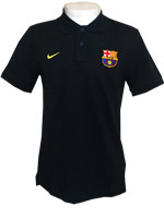 Camisa Polo Authentic Barcelona Nike Preta