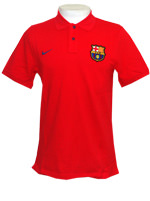 Camisa Polo Authentic Barcelona Nike Vermelha