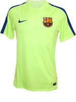 Camisa Nike Barcelona Dry Top Squad Verde Limão