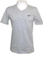 Camisa Básica Gola V Solid SP Nike Cinza