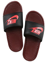 Chinelo Nike Benassi Just Do It Vinho e Preto
