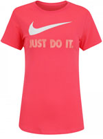 Camisa Nike NSW Crew Just Do It Feminina Rosa