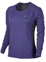 Camisa Manga Longa Nike Dry Miler Feminina Roxa
