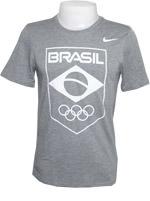 Camisa Nike COB Blend Logo Cinza